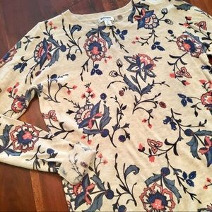 Old Navy Floral Sweater